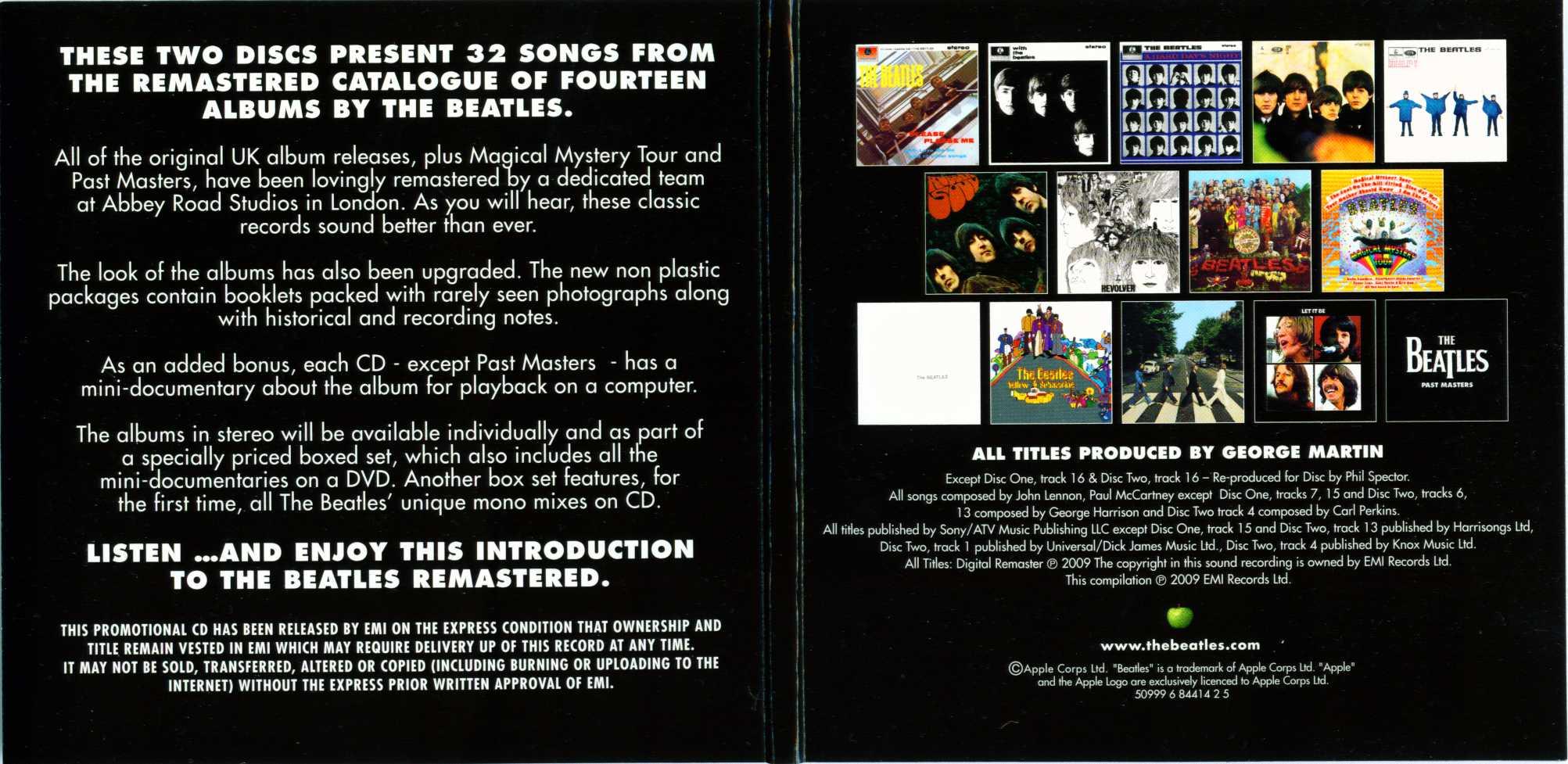 The Beatles Remastered Box Set Sampler